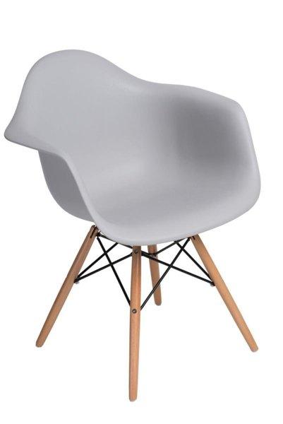 stuhl p018w pp hell grau beine holz grau m bel st hle. Black Bedroom Furniture Sets. Home Design Ideas