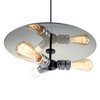pendant light \ chrome \ 3