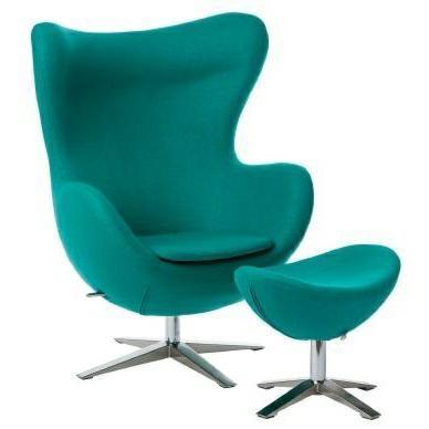 sessel ei mit fussbank wolle yq 23 gr n gr n m bel sessel. Black Bedroom Furniture Sets. Home Design Ideas