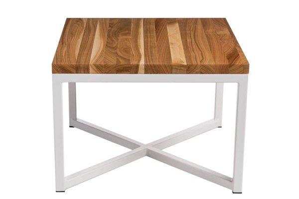 kleiner tisch taco 100x100 weiss profil 30 mm lakierte echte tischplatte aus kirschbaum wei. Black Bedroom Furniture Sets. Home Design Ideas