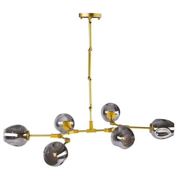 h ngelampe modern orchid 6 gold grau130 cm beleuchtung. Black Bedroom Furniture Sets. Home Design Ideas