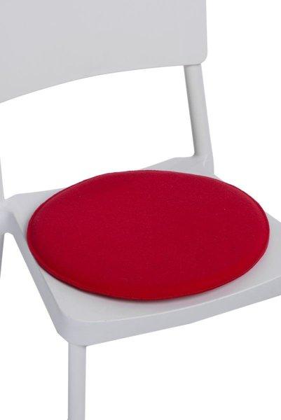 kopfkissen auf den stuh rund rot rot m bel stuhlkissen. Black Bedroom Furniture Sets. Home Design Ideas